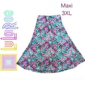 NWT LuLaRoe Floral Maxi Skirt 3X